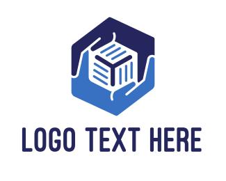 Storage - Hexagonal Hands logo design