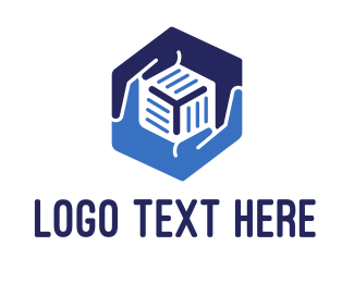 Storage - Hexagonal Hands logo design