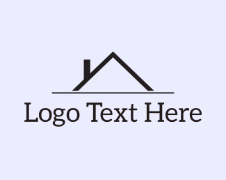 Roofing - Black Roof logo design