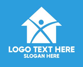 Carpenter - Home Builder X logo design