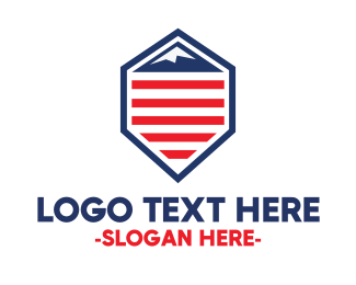 French - American Mountain logo design