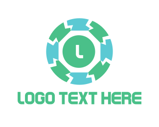 Spine - Block Circle logo design