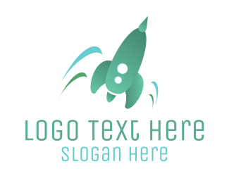 Rocket - Turquoise Rocket logo design