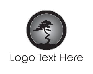 Moonlight - Night Tree logo design