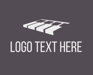 Pianist - White Piano logo design