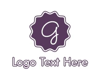 """Purple G Stamp"" by BrandCrowd"