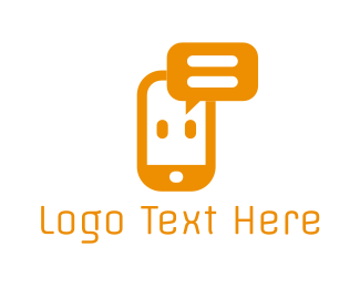 Cell Phone - Phone Chat logo design