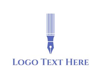 Calligraphy - Pen Code logo design