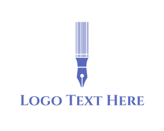 Calligraphy - Pen Code logo design