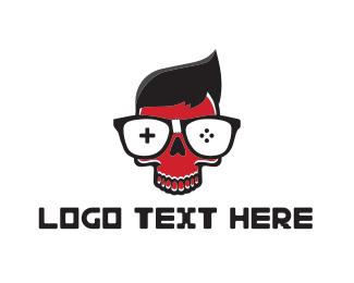 Geek - Gamer Skull logo design