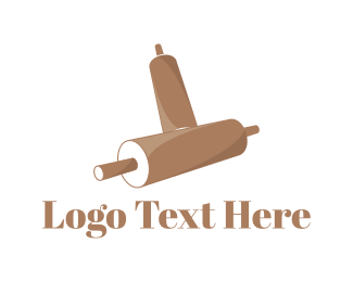 Bake - Rolling Pin logo design