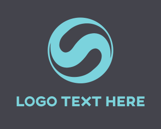 Tech - Blue Letter S logo design