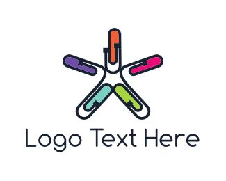 Paper Clip - Office Star logo design