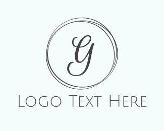 Chic - Minimalist Chic G Circle logo design