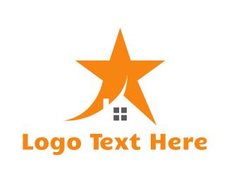 Wish - Orange Star House logo design