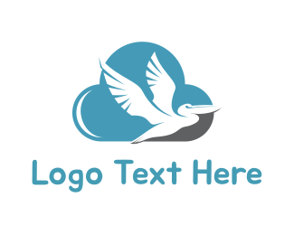 Pelican - Pelican & Cloud logo design
