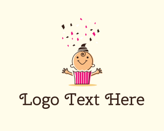 Boy - Baby Cake logo design