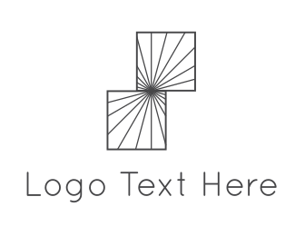 Optical - Square Illusion logo design