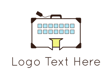 Airport - Building Luggage logo design