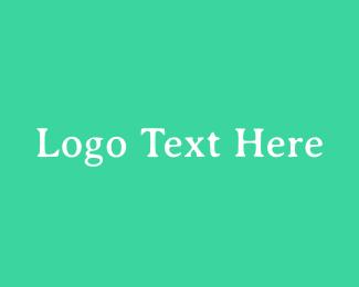 Font - Fresh Green Serif Text logo design