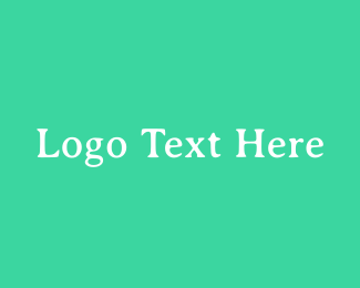 Text - Fresh Green Serif Text logo design