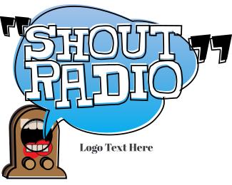 Broadcast - Shout Radio logo design