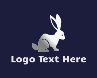 Hare - Silver Rabbit logo design