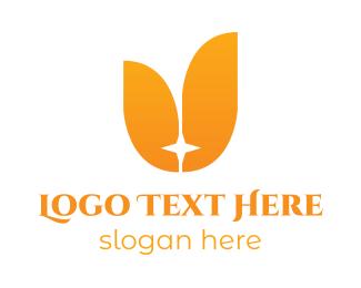 Orchid - Orange Star Tulip logo design