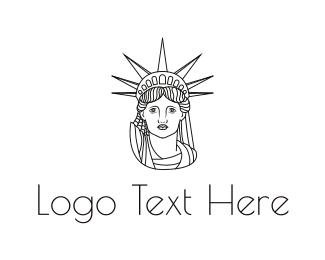 Statue - Minimalist Statue of Liberty logo design