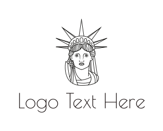 Freedom - Minimalist Statue of Liberty logo design