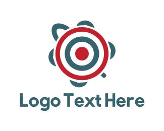 Tortoise - Target Turtle logo design