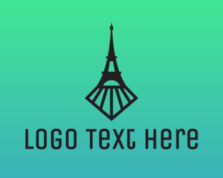 Subway - Eiffel Train Tower logo design