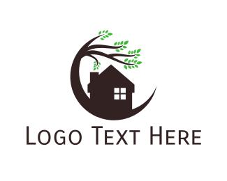 Real Estate - House & Tree logo design
