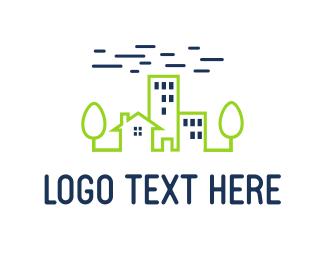 Real Estate - Green City logo design