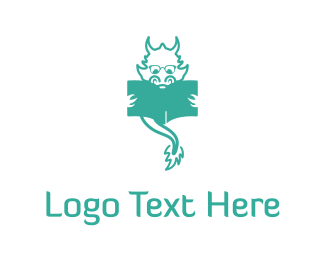 Reading - Dragon Reading logo design