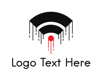 Wireless - Up Connection logo design