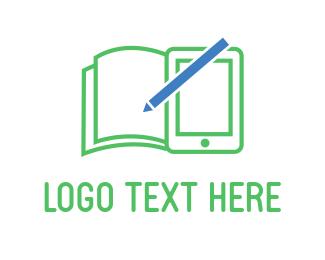 Tablet - Green Notebook logo design