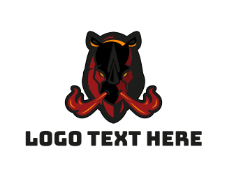 Esport - Rhino Flames logo design