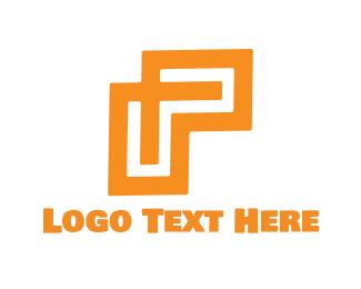 Letter P - Geometric Letter P logo design