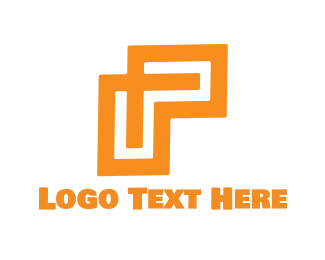 Geometric - Geometric Letter P logo design