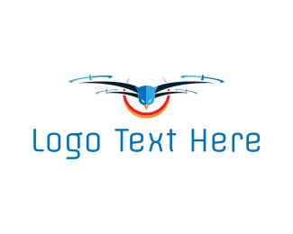 Fly - Bird Drone logo design