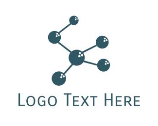 Biochemistry - Molecular Bowling logo design