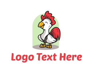 Southern - Cute Chicken logo design