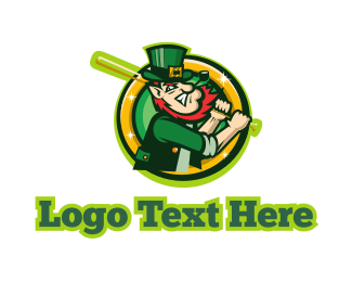 Irish - Leprechaun Baseball logo design