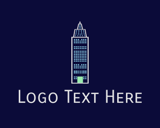 New York - Blue Building logo design