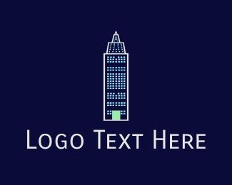 Nyc - Blue Building logo design