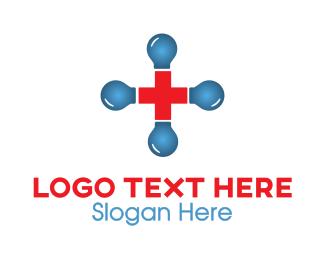 Pharmaceutical - Blue Red Cross logo design