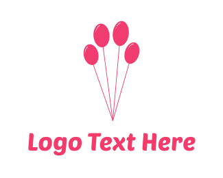 Celebration - Paw Ballon logo design