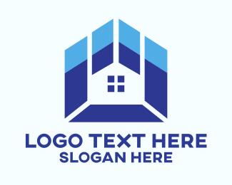 Decoration - Blue Pattern Home  logo design