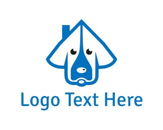 Dog Sitting - Dog House logo design